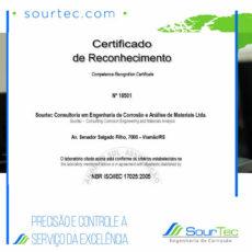 Reconhecimento ISO/IEC 17025:2005